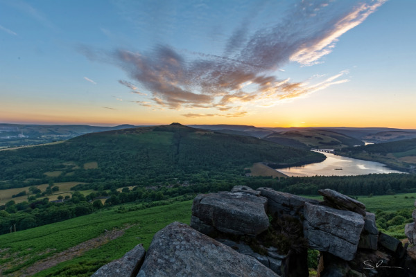 Ladybower Reservoir at Sunset #1