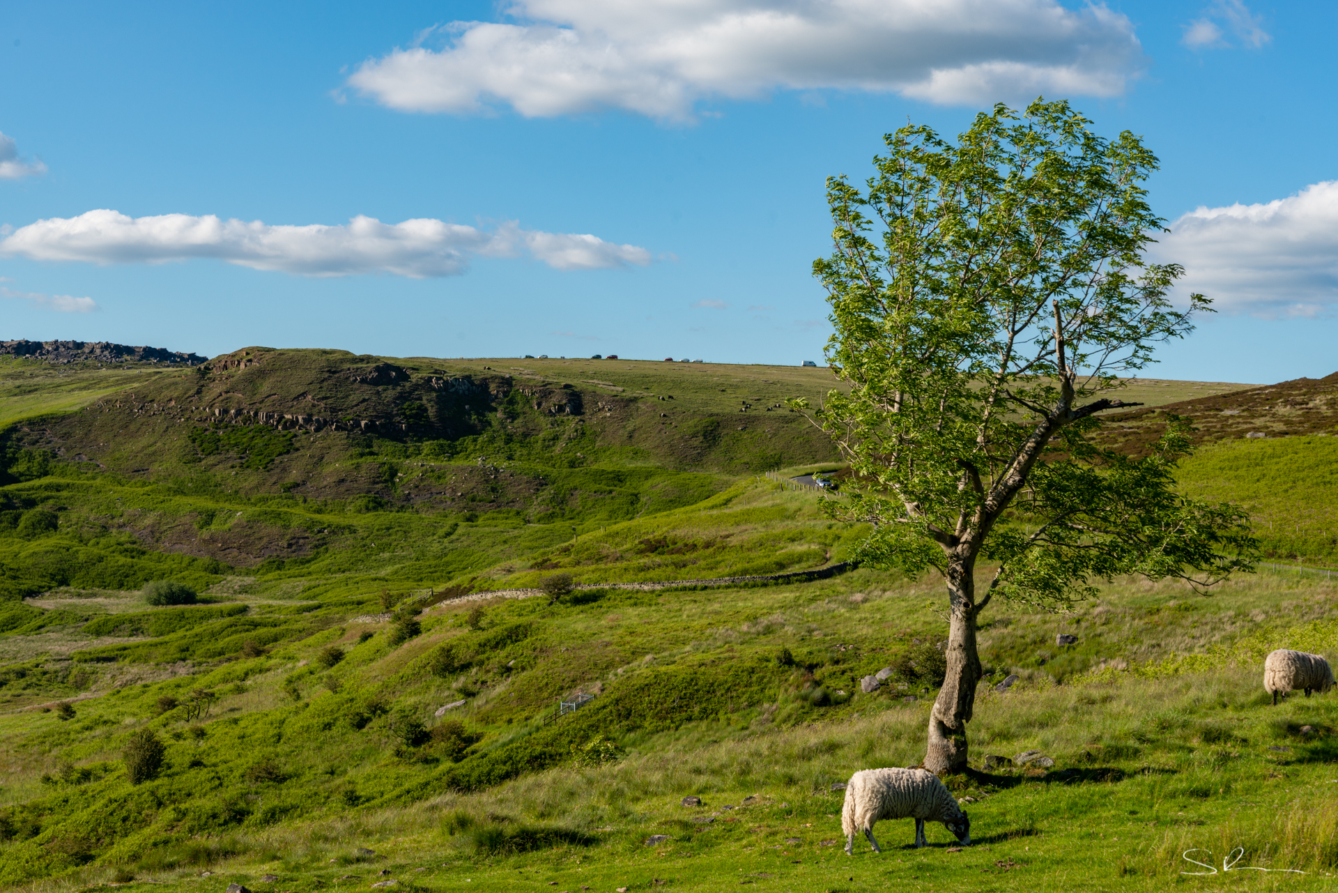 Looking out to Stanage Edge